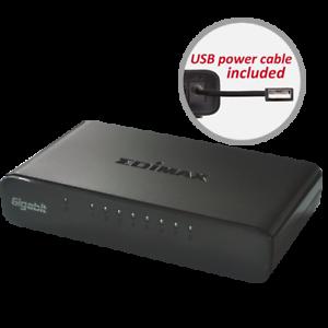 EDIMAX ES-5800G 8-Port Gigabit 100//1000Mbps Ethernet LAN Desktop HUB Switch RJ45