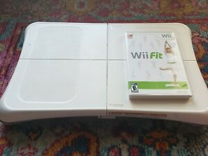 Nintendo Wii Fit & Wii Balance Board Tested & Working - Game, Board, Manuals