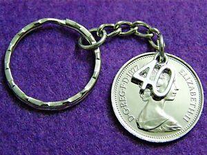 30TH BIRTHDAY GIFT POLISHED 1989 LARGE FIVE PENCE COIN  KEYRING HANDBAG CHARM