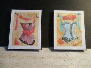2 Poupées Miniature Corsets Photos Cz11-afficher Le Titre D'origine