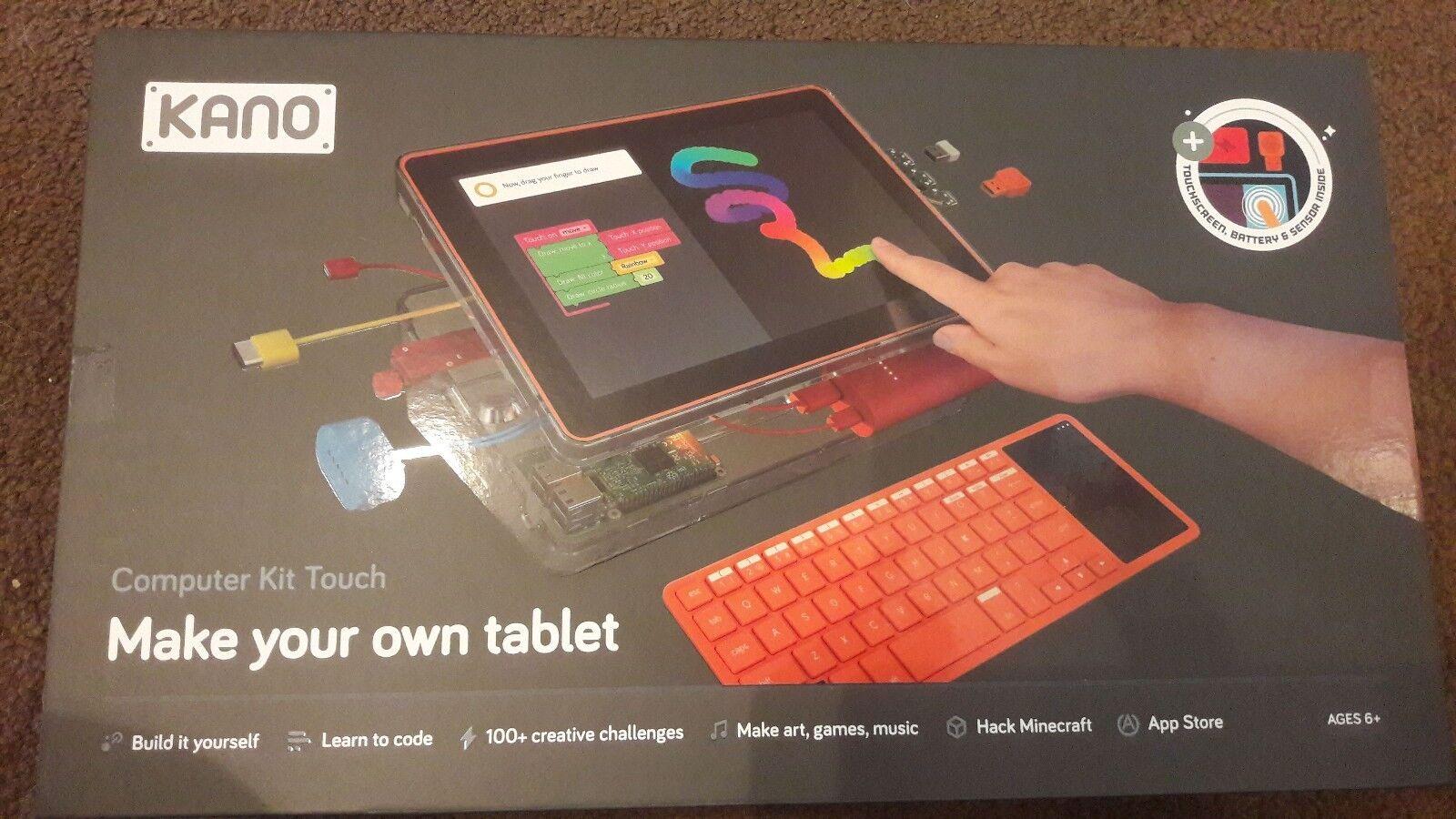 Pantalla táctil de 10.1 kit de computadora Kano, Teclado Y Raspberry Pi 3 aprender a código