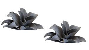 Blumen Tischdeko 2 x Foam Flower grau Länge 27 cm Kunstblume für Vasen