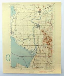 Mt Vernon Washington Map.Mount Vernon Washington Vintage 1943 Usgs Topographic Map Camano