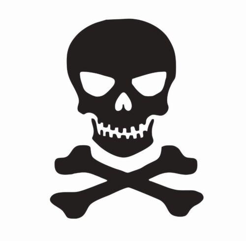 FREE SHIPPING Skull and Crossbones Vinyl Die Cut Car Decal Sticker