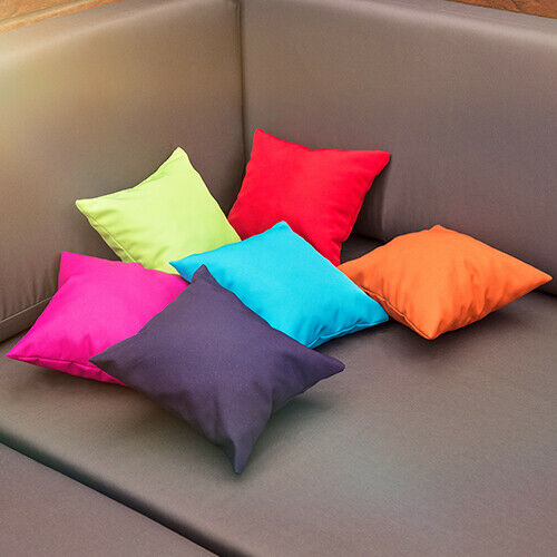 "6pk Bright Summer couleurs Outdoor Mini 8/"" Coussins Tissu Imperméable Jardin Pad"