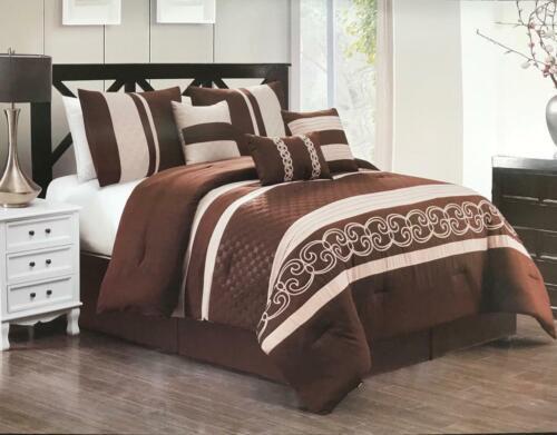 Modern Home Bedding Comforter Sets 7 Piece Sets