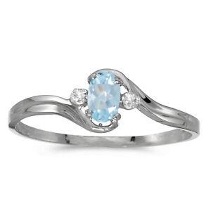 14k-White-Gold-Oval-Aquamarine-And-Diamond-Ring