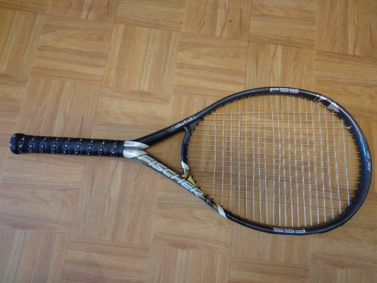 Fischer doble Tech carbono 1250 118 cabeza 4 1 8 Grip Tenis Raqueta