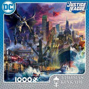 Dc-Comics-Thomas-Kindade-Showdown-at-Gotham-Jigsaw-Puzzle-1000-Pieces-puzzle-New