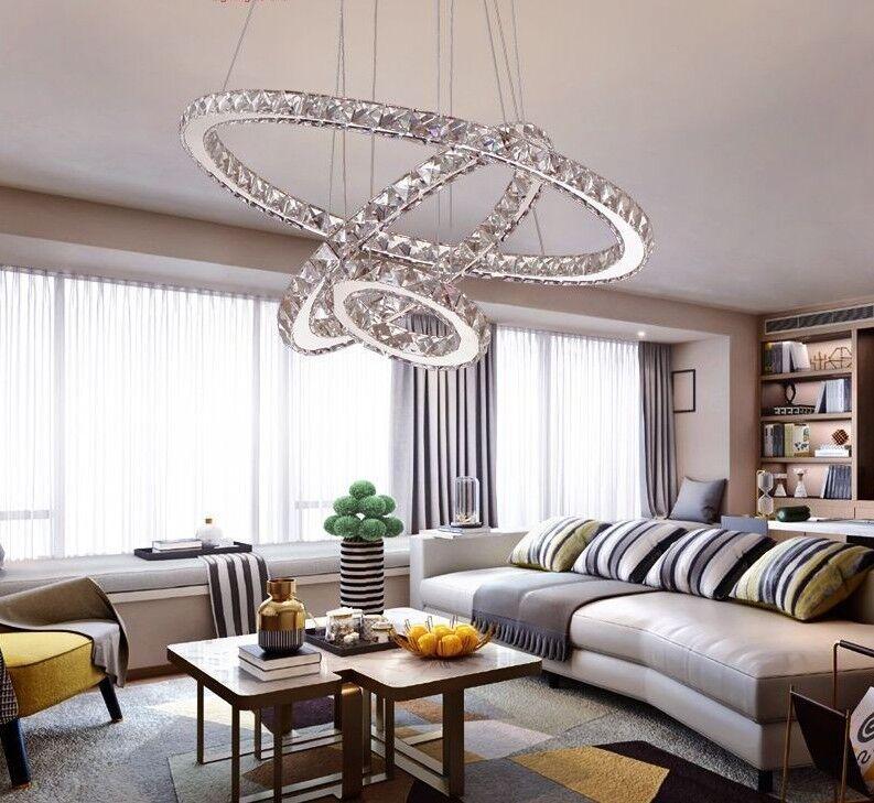 LED Crystal Chandeliers Modern Light Lamp For Living Room Lustre Ceiling Fixture