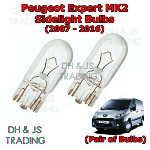07-16 Peugeot Expert Front Sidelights Lights Pair of Side Light Bulb Bulbs Van