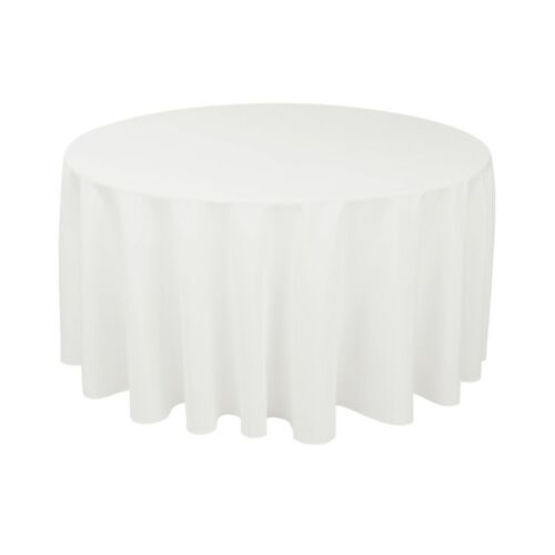 """70/"""" White Round Seamless Tablecloth For Wedding Party Banquet tables 30/"""" 36/"""" 48/"""""""