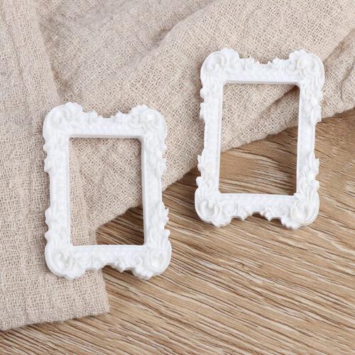 2Pcs 1:12 dollhouse miniature art picture photo painting frame home deco Eh