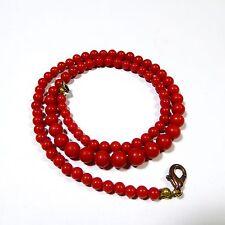 17,6 gr red Art Deco Korallenkette Koralle Kette Edelkoralle Coral Necklace