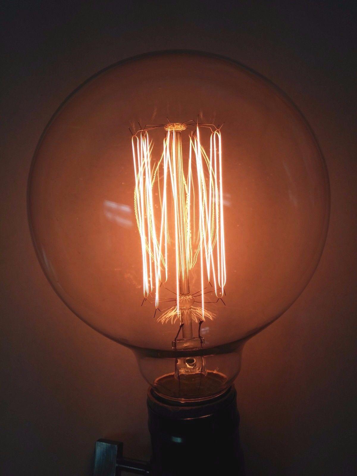 (10pk) Simple Vintage G95 Edison bombilla de 60W Retro Transparente Globo Jaula De Ardilla