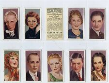 Full Set, Carreras, Film Stars by Desmond 1936 EX (Ga3097-349)