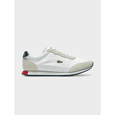 New Lacoste Mens Men S Partner 119 1 Sneakers In White And Navy Sneakers