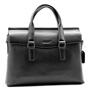 Husband-039-s-Gift-Men-039-s-Business-Bag-Real-Leather-Briefcase-Messenger-Laptop-Case