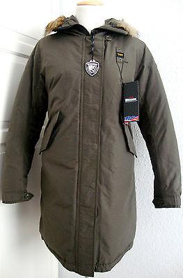 BLAUER USA Daunen Mantel Jacke Parka Damen mit Kapuze Grün Gr.L NEU mit ETIKETT   eBay