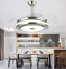 Modern-36-034-Invisible-Ceiling-Fans-with-3-Color-LED-Light-Fan-Chandelier-remote thumbnail 5