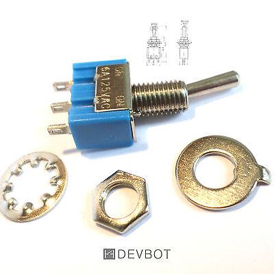 Interrupteur à bascule 6A 125V Bleu, ON/ON MTS102, 3 broches. Arduino, DIY, Pi