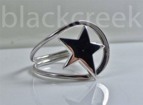 925 Sterling Silver ~   ~Star ~  Ring ~  16 mm~  Size 7
