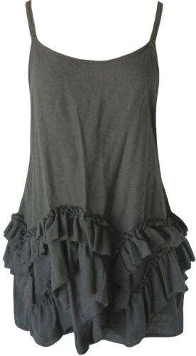 Krista Larson Olive-Brown Wool Petticoat Cami Roma