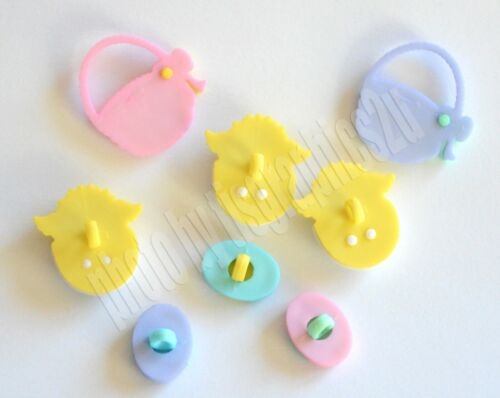 Dress It Up Easter Chicks w Pastel Basket /& Eggs Easter Basket Jesse James