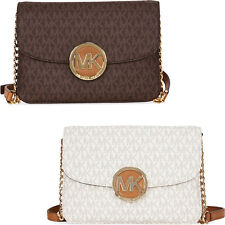 Michael Kors Flap Monogram Gusset PVC Crossbody - Choose color