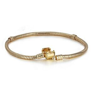 Golden-Charm-Bracelet-chain-Jewelry-Fit-925-Silver-Sterling-European-charms-Bead