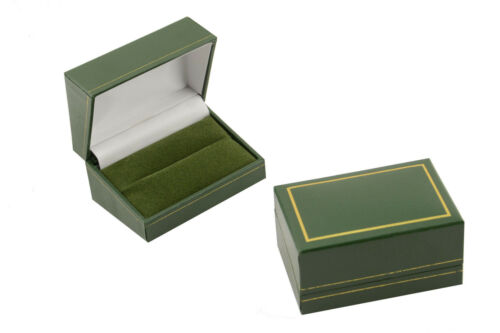 Luxury Faux Leather Double Wedding Ring Box Jewellery Display Rings Gift Box