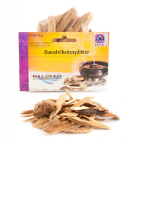 Sandelholzsplitter-50-g-Raeucherwerk-Hoelzer-amp-Wurzeln