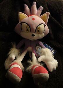 Sega Official Ge Sonic The Hedgehog 12 Plush Toy Figure Blaze The Cat Nwt Ebay