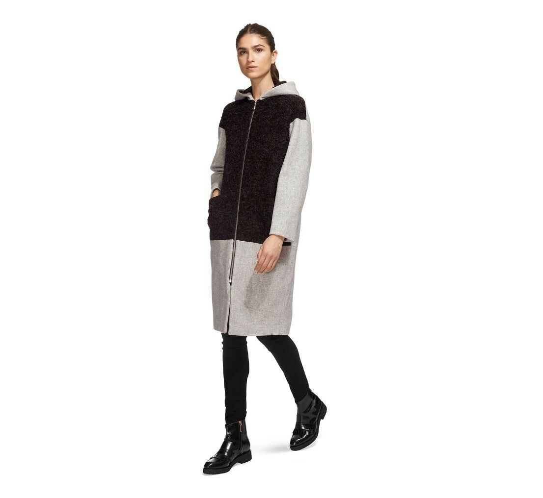 Whistles -  -- Anna Hooded Boucle Coat - New with tag - Size L - 16 - Ladies