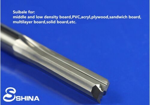 """5x 6mm 1//4/"""" Double Flute Straight Slot CNC Router Bits Tungsten Carbide 6*22mm"""