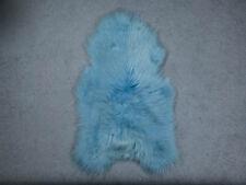 ICELANDIC SHEEPSKIN RUG DYED Blue 110-120 cm