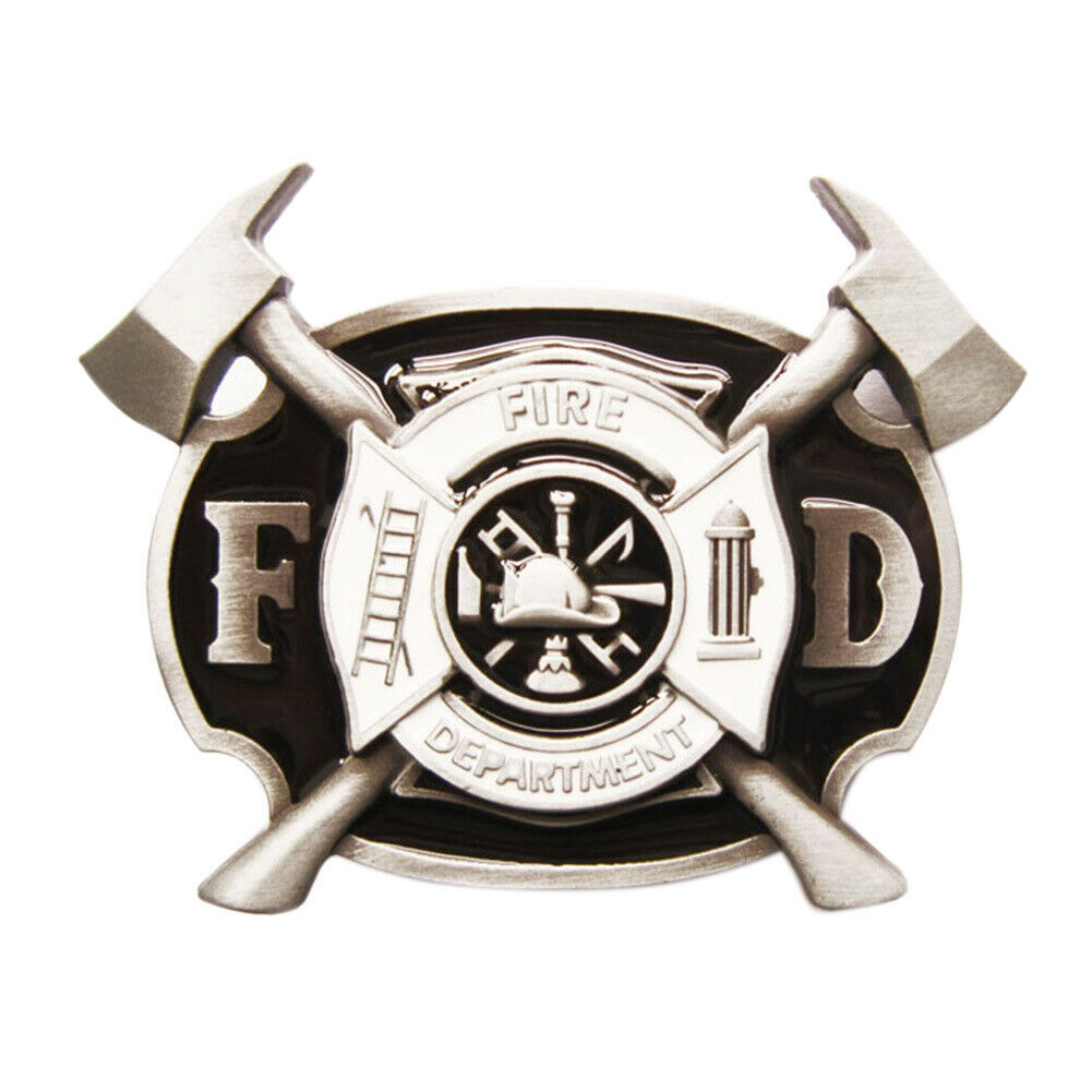 Fire Department IV Gürtelschnalle Feuerwehr Feuerwehrmann Feuerwehrhaus Brigade