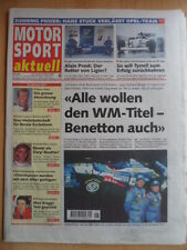 MOTOR SPORT aktuell 28.1.-4.2. 6 - 1997 Gerhard Berger Walter Röhrl Max Biaggi