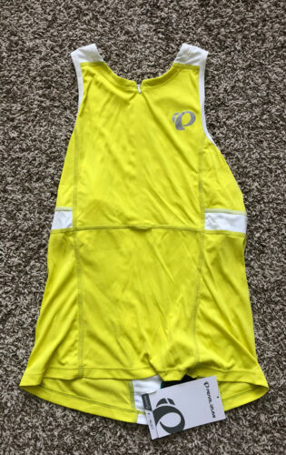 Pearl iZumi Tri Relaxed Yellow Jersey Biking Tank Shirt Medium NWT