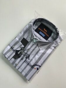 Harmont-amp-Blaine-Shirt-Narrow-Fit-white-black-stripes-dark-blue-dachshund