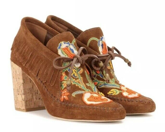New  450 TORY BURCH Huntington Beaded Moccasin Bootie Runway sz 7