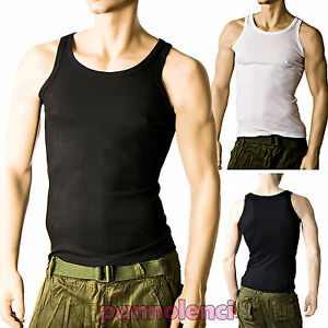 Camiseta de tirantes hombres pana slim fit ajustado gimnasio fitness ... 2145eaa0512
