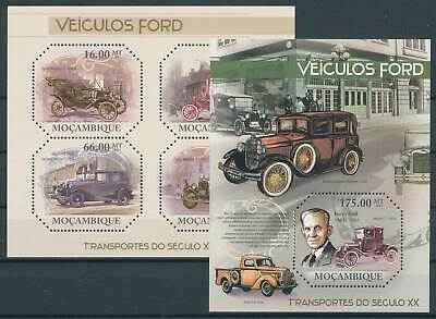 Nr.4647-50+block 463** Autos Ford Mocambique Klbg 263976