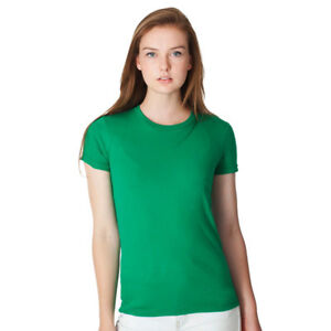 American-Apparel-2102-100-Cotton-Women-039-s-T-shirts-10-Colors-Sm-2XL-USA-Made