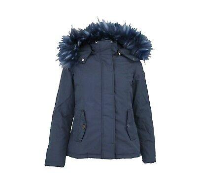 Giubbotto Imbottito con pelliccia Donna MARVILLE DAME Blu Notte Misura S | eBay