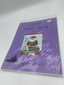 Gone-Fishin-039-Santa-Libby-Sturdy-Needlepoint-Canvas-amp-Stitch-Guide