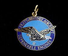 PRATT & WHITNEY PENDANT NECKLACE JEWELRY GIFT DEPENDABLE ENGINE PIN UP EAGLE