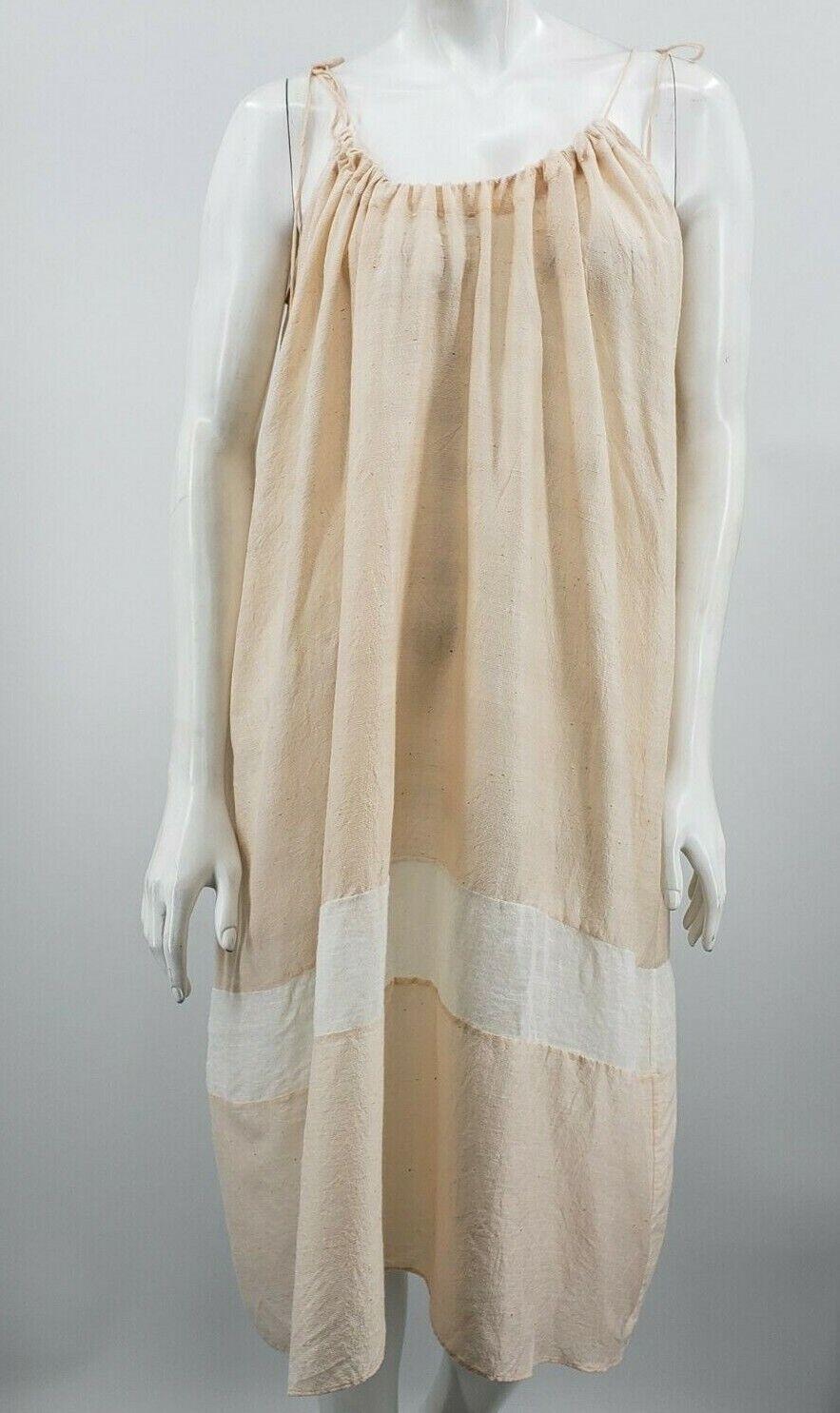 Pondicherie Sita Tie Dress One Size Blush Silk Or… - image 2