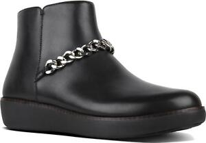 7a5f374d92 Image is loading FitFlop-PIA-CHAIN-Ladies-Leather-Pull-On-Fashionable-