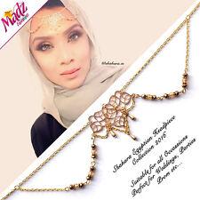 Hijab Pin Wedding Bridal Tikka Hair Bracelet jewellery Head piece Party gold